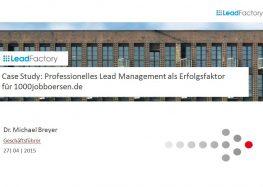 Umsätze verdreifacht mit professionellem Lead Management
