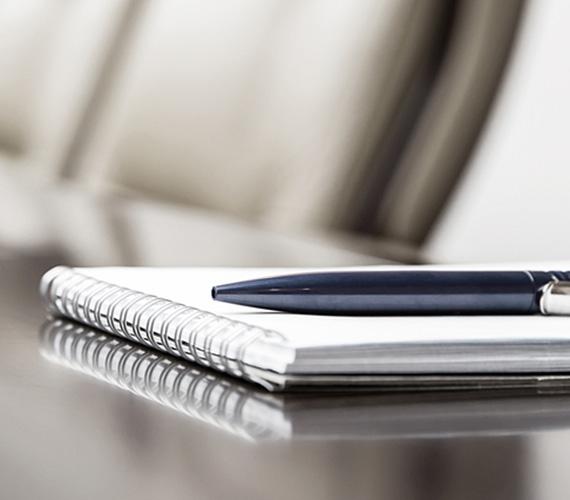 Stift und Notizblock