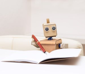 Roboter schreibt