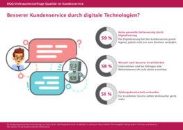 DGQ-Studie zeigt: Deutsche stehen Digitalisierung im Kundenservice skeptisch gegenüber