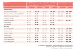 Gehaltsreport: Das verdienen Marketing-Spezialisten
